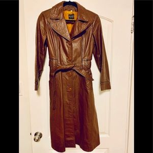 Jackets & Blazers - Beautiful Vintage 70's leather trench coat